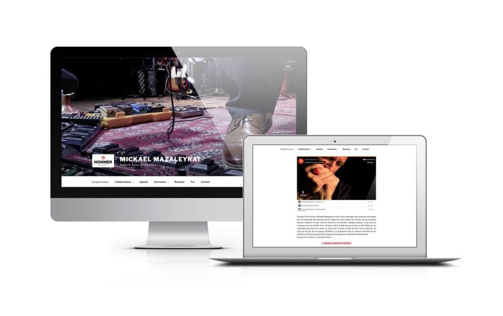 Conception du site vitrine pour l'harmoniciste Mickael Mazaleyrat